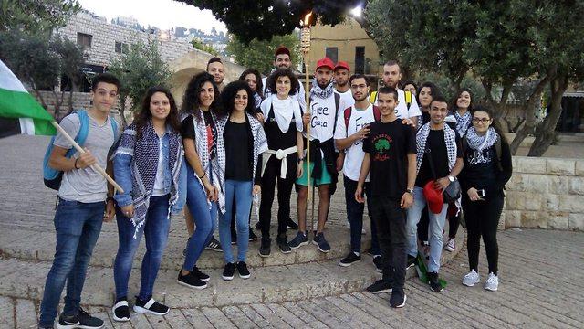 פעילים מחאה רגלית מ נצרת עד סכנין  ()