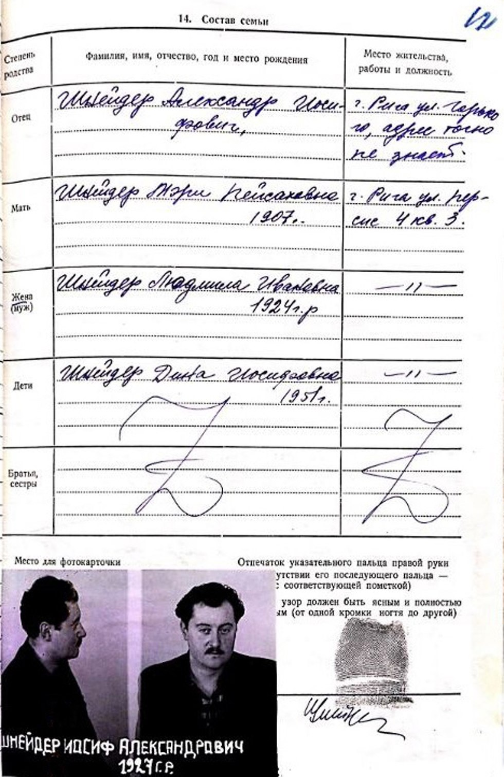 תיקו של יוסף שניידר (צילום: יוסף שניידר, באדיבות ארכיון הספריה הלאומית)