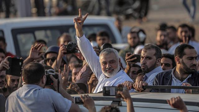Hamas chief Haniyeh (Photo: EPA)