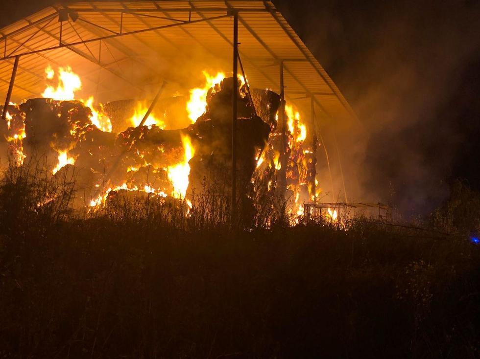 שריפה (צילום: דוברות כבאות איחוד והצלה צפון)
