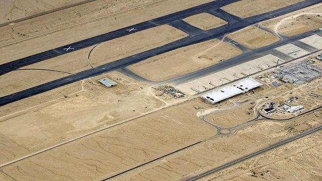 צילום אוירי שדה התעופה רמון (צילום: דובר צה