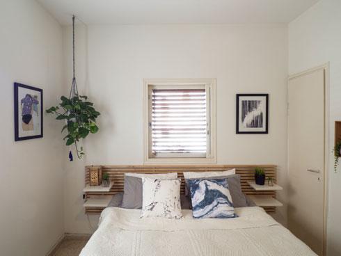 חדר השינה לא גדול, ובכל זאת אוורירי (צילום: נגה שחם פורת)