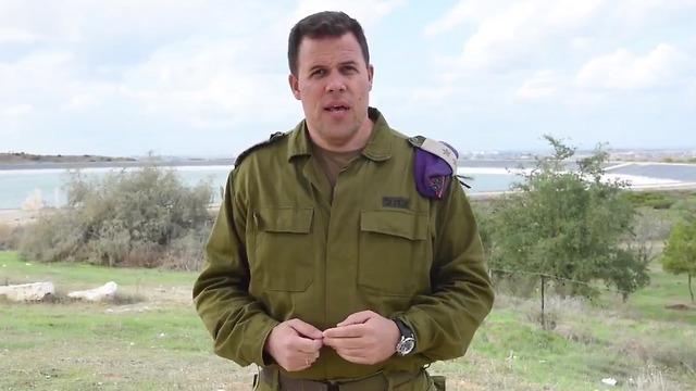 Officier principal de l'Unité du porte-parole de Tsahal, Lt.-Col. Jonathan Conricus a reconnu les échecs d'Israël dans la campagne de relations publiques sur les manifestations à la frontière de Gaza (Photo: Twitter)