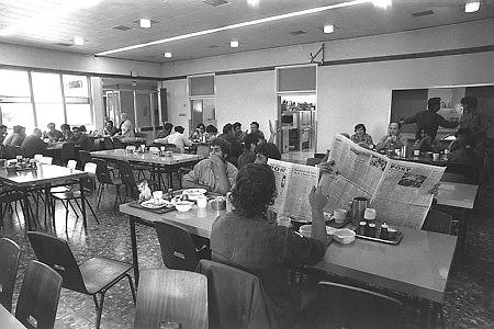 ארוחת הבוקר הייתה הארוחה החשובה ביום. קיבוץ ראש הנקרה, 1975 (צילום: יעקב סער, לשכת העיתונות הממשלתית)