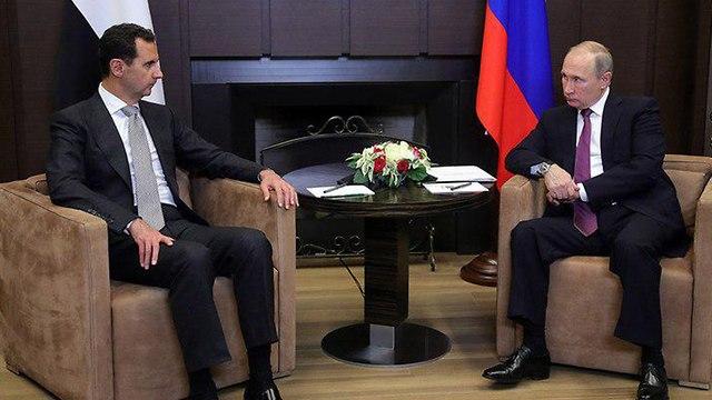 ולדימיר פוטין פגישה עם נשיא סוריה בשאר אסד ב סוצ'י רוסיה ()