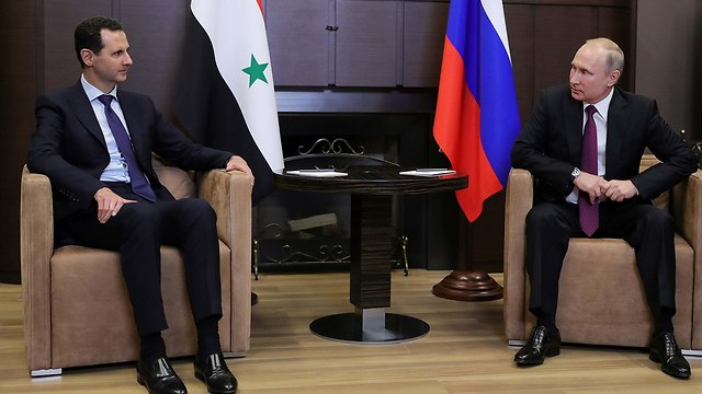Assad with Russian President Vladimir Putin (Photo: Reuters)