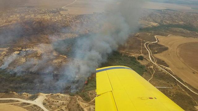 אש שריפה שמורת טבע נחל ה בשור ב דרום להבות נזק (צילום: עמית דנגור)