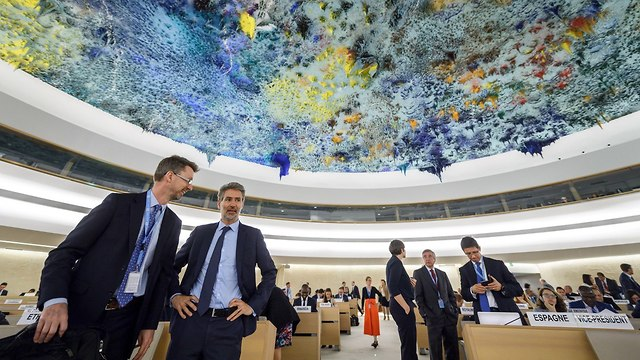The UN Human Rights Council voted overwhelmingly in favor of instating an independent committee to probe the Gaza events (Photo: AFP)