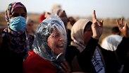 התפרעויות פלסטינים רצועת עזה (צילום: רויטרס)