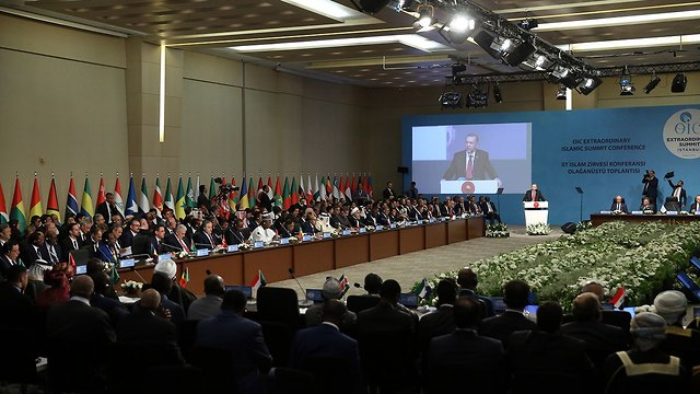 Erdoğan speaking at the Organization of Islamic Cooperation meeting (Photo: MCT)