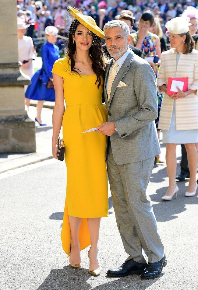 הזוג הנוצץ בחתונה המלכותית. ג'ורג' ואמל קלוני (gettyimages)