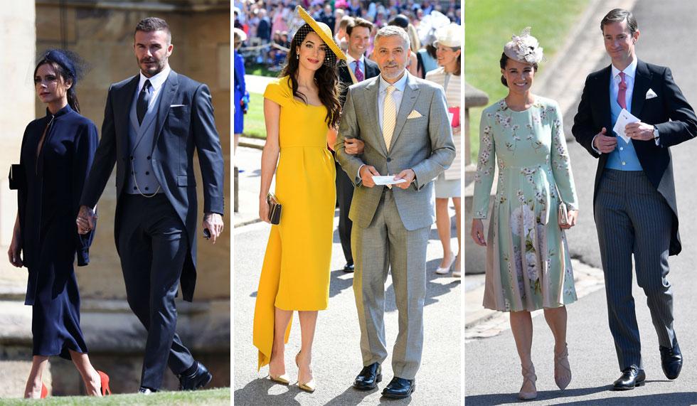 מגיעים לחגוג עם הזוג הטרי בחתונה: פיפה מידלטון וג'יימס מתיוס, ג'ורג' ואמל קלוני, ויקטוריה ודיוויד בקהאם (צילום: GettyimagesIL)