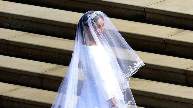 מייגן מרקל חתונה הנסיך הארי טירת וינדזור בריטניה (צילום: AP)