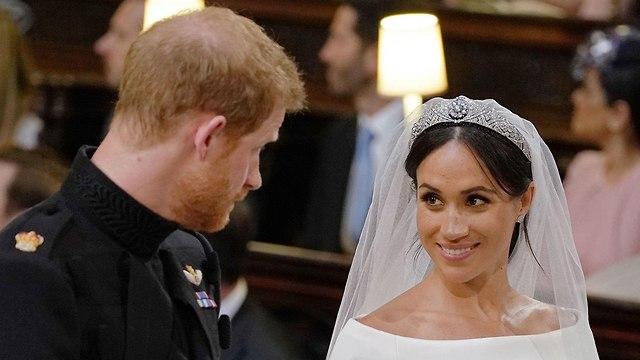 חתונה מייגן מרקל הנסיך הארי טירת וינדזור בריטניה (צילום: AFP)