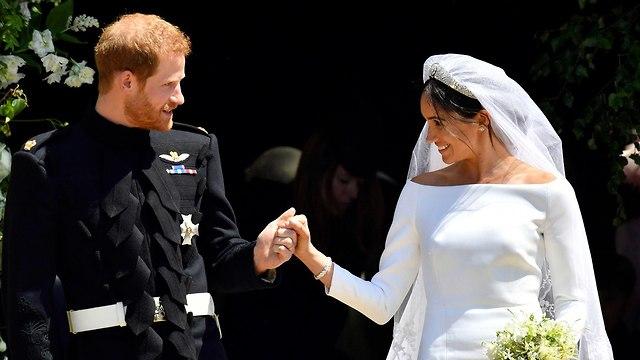 מייגן מרקל הנסיך הארי חתונה טירת וינדזור בריטניה (צילום: AP)
