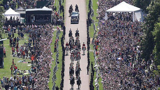הנסיך הארי ומייגן מרקל (צילום: AFP)
