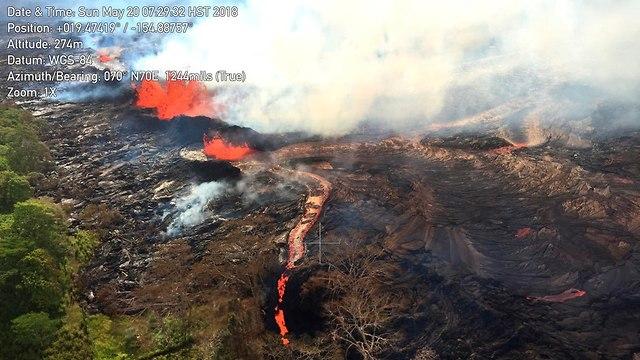 הר הגעש קילוואה ב הוואי (צילום: AP)