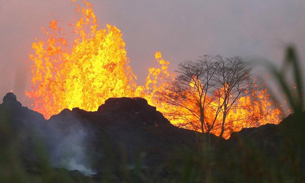 הר הגעש קילוואה ב הוואי (צילום: AFP)