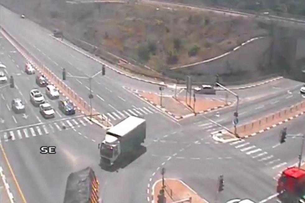 תאונת דרכים בצומת אחיהוד (צילום: נתיבי ישראל)