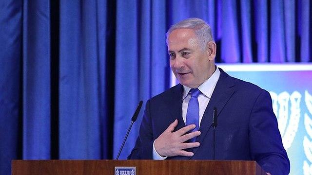 Биньямин Нетаниягу на открытии посольства Парагвая в Иерусалиме. Фото: Алекс Коломойский