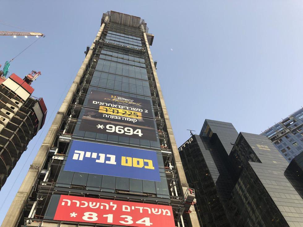 אתר בנייה ברחוב מנחם בגין תל אביב (צילום: מתן טורקיה )