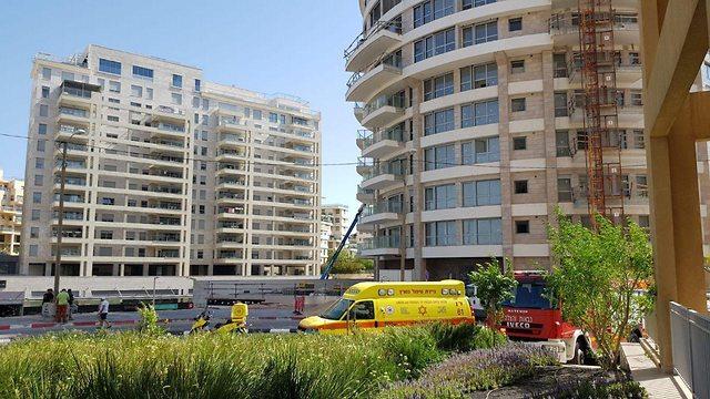 דויד יגודייב פועל בניין נהרג אתר בנייה תל אביב (צילום: תיעוד מבצעי מד