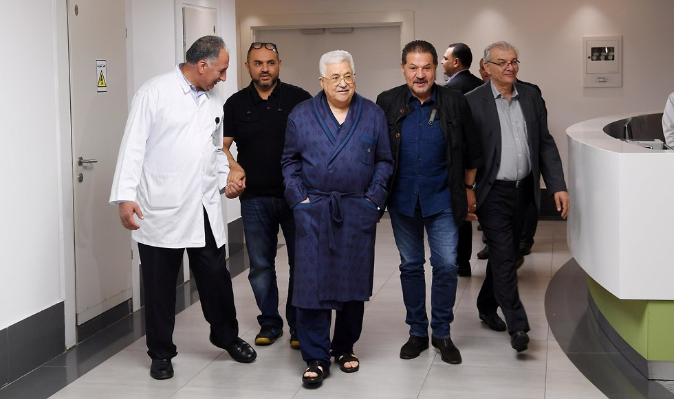 Palestinian President Mahmoud Abbas during a recent stay at a Ramallah hospital (Photo: Reuters)