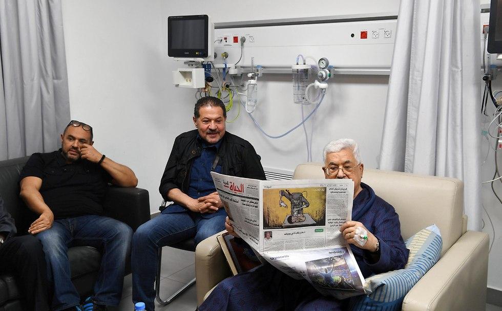 Abbas at the hospital (Photo: Reuters)