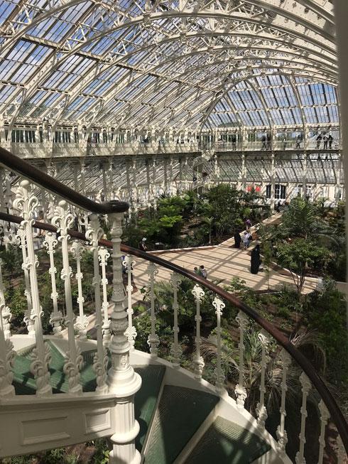 גרם מדרגות מסתלסל לקומת הגלריה (צילום: הילה שמר)