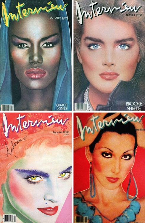 בין השנים 1989-1972 בלט המגזין בזכות שעריו המצוירים והצבעוניים, שיצר האמן ריצ'ארד ברנשטיין. גרייס ג'ונס, ברוק שילדס, שר ומדונה