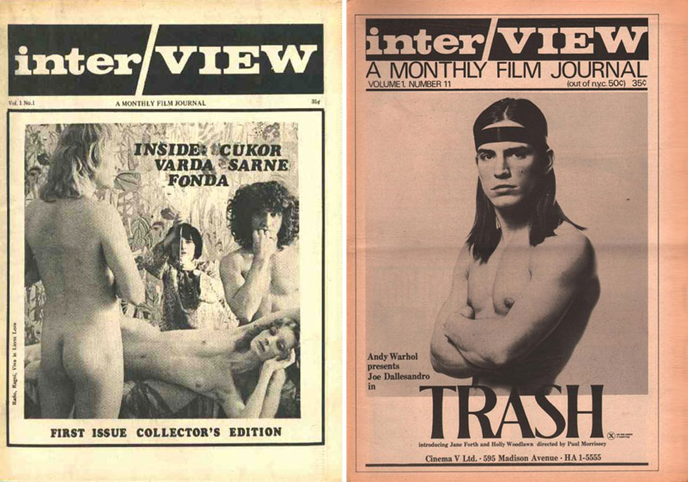 השערים הראשונים של מגזין Interview ניסחו את סצנת האוונגרד של ניו יורק