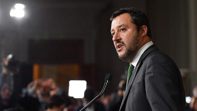 איטליה ממשלה חדשה מנהיג ה ליגה מתיאו סלביני מתאו סלביני (צילום: EPA)