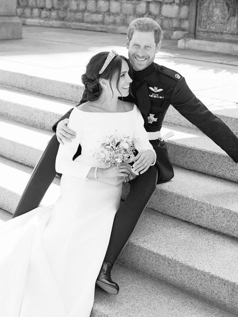 """""""הם זוג פנטסטי, מאוד פתוח ואדיב. אנשים נורמליים וטובים"""". מייגן מרקל והנסיך הארי (צילום: Alexi Lubomirski/Kensington Palace via AP)"""