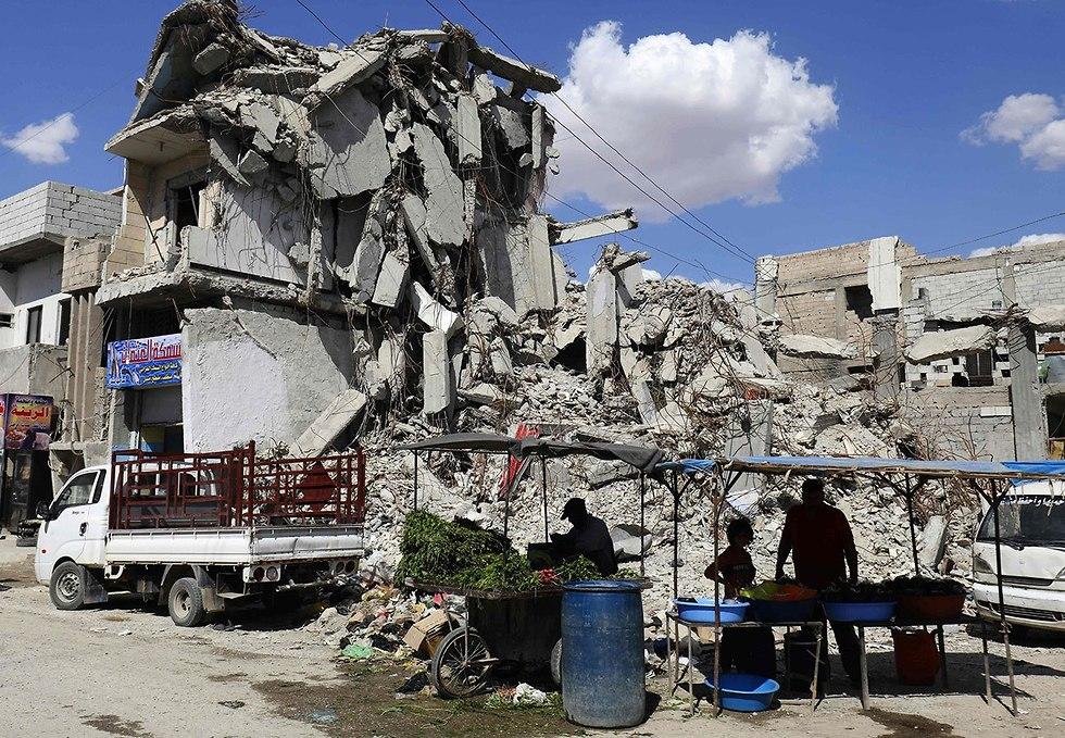 רמדאן א-רקה רקה בירת דאעש סוריה (צילום: AFP)