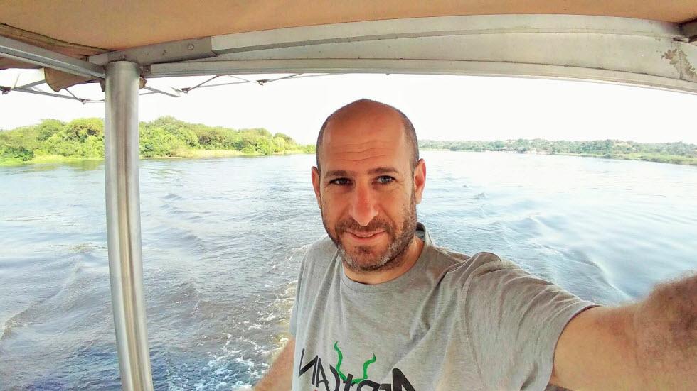 שט על הנילוס באוגנדה (צילום: גיא צוקרמן )