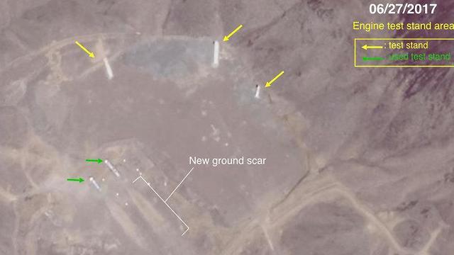 תיעוד אווירי של מתקני טילים אריאניים (צילום: David Schmerler/Center for Nonproliferation Studies)