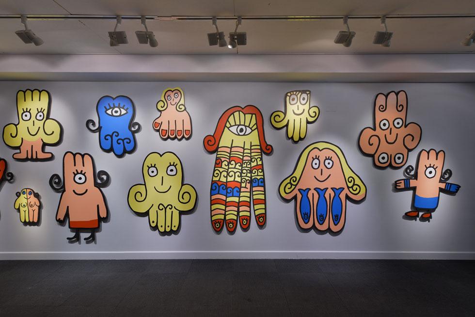 ''חמסושקה'' של זאב אנגלמאיר, אחותה הצעירה של ''שושקה'', היא אחת העבודות שהוכנו במיוחד לתערוכה  (צילום: שי בן אפריים)