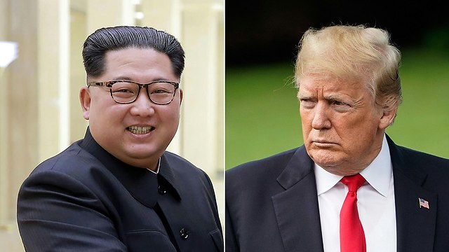 קים ג'ונג און דונלד טראמפ (צילום: AFP)