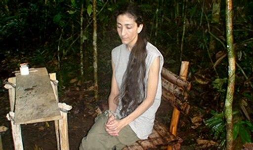 אינגריד בטנקור בתקופת השבי. חטופה ליותר משש שנים (צילום: רויטרס)
