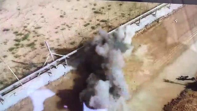 פיצוץ מטען מחבלים סמוך ל גדר המערכת ב רצועת עזה צה