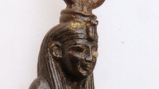 פסלון של איסיס המניקה את בנה הורוס (ברונזה, מצרים. 712–332 לפנה