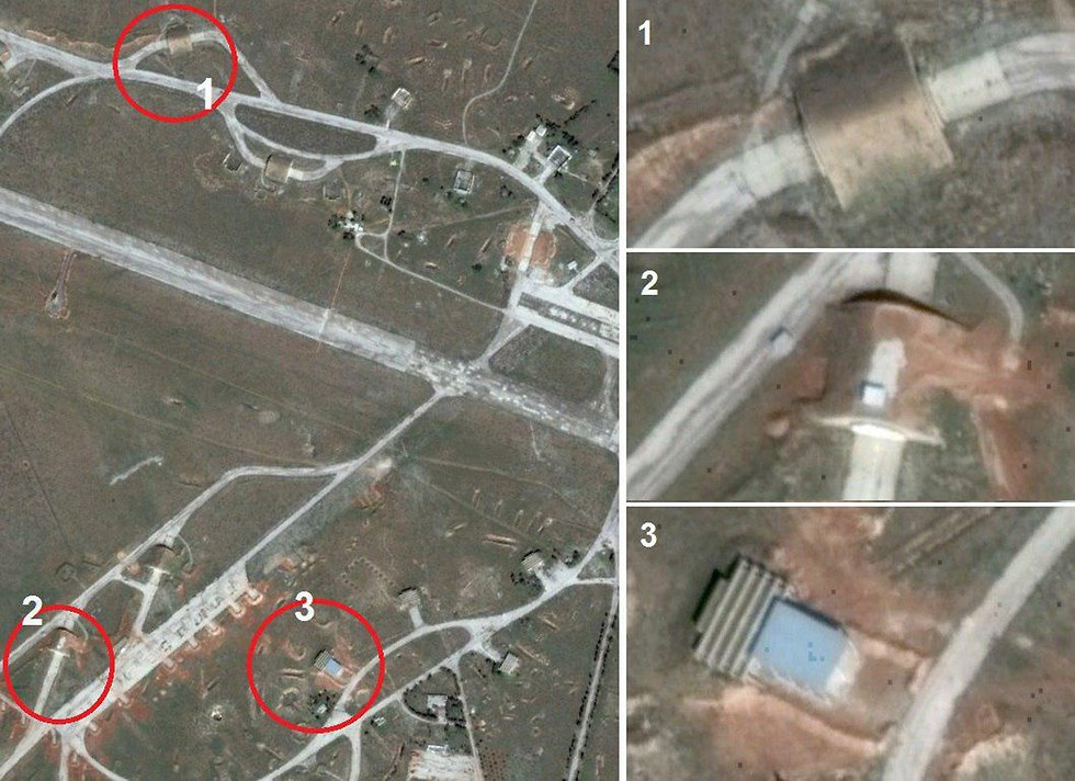 Targets of Dabaa strike (Photo: Google Earth)