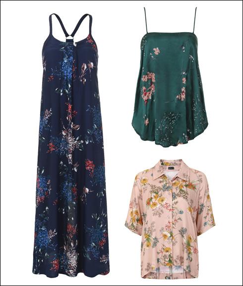 גופייה, 390 שקל; חולצה מכופתרת, 420 שקל; שמלת מקסי, 640 שקל (צילום: ניר יפה)