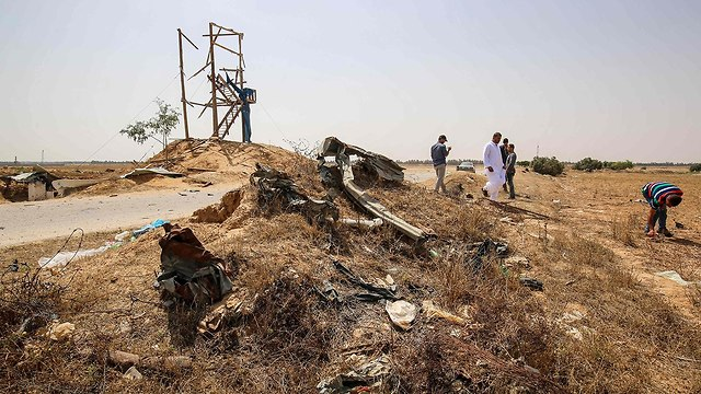 Outpost struck by IDF after explosion (Photo: AFP)
