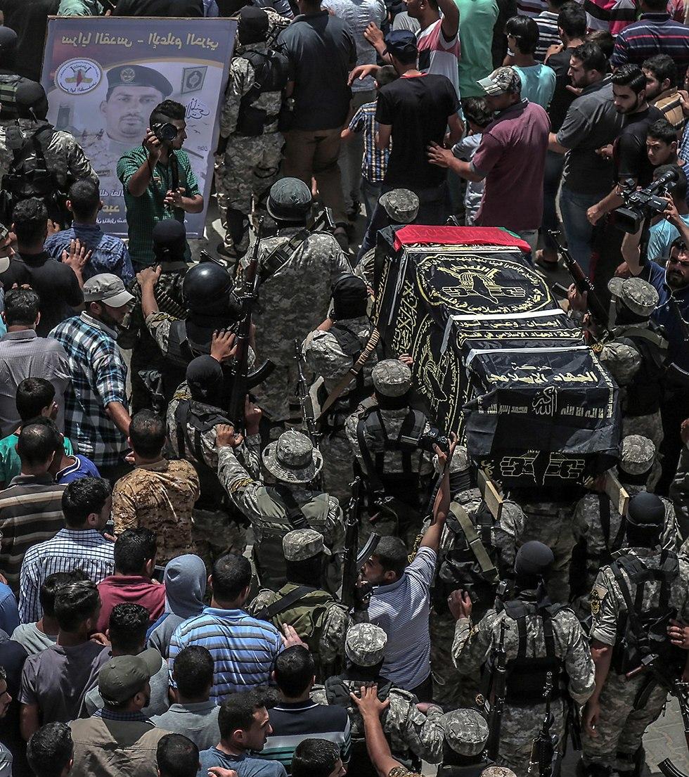 הלוויה של פעיל ג'יהאד איסלאמי ברפיח (צילום: EPA)