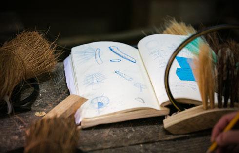 מחקר של מלאכת הייצור המסורתית (צילום: קרן רוזנברג)