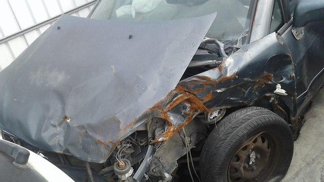 מיכאל עמנואל תיעוד תאונה  ()