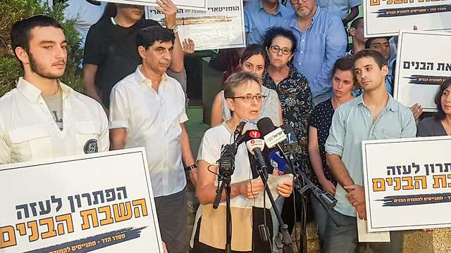Goldin's mother Leah said soldiers should not be left behind (Photo: Yuval Hen)