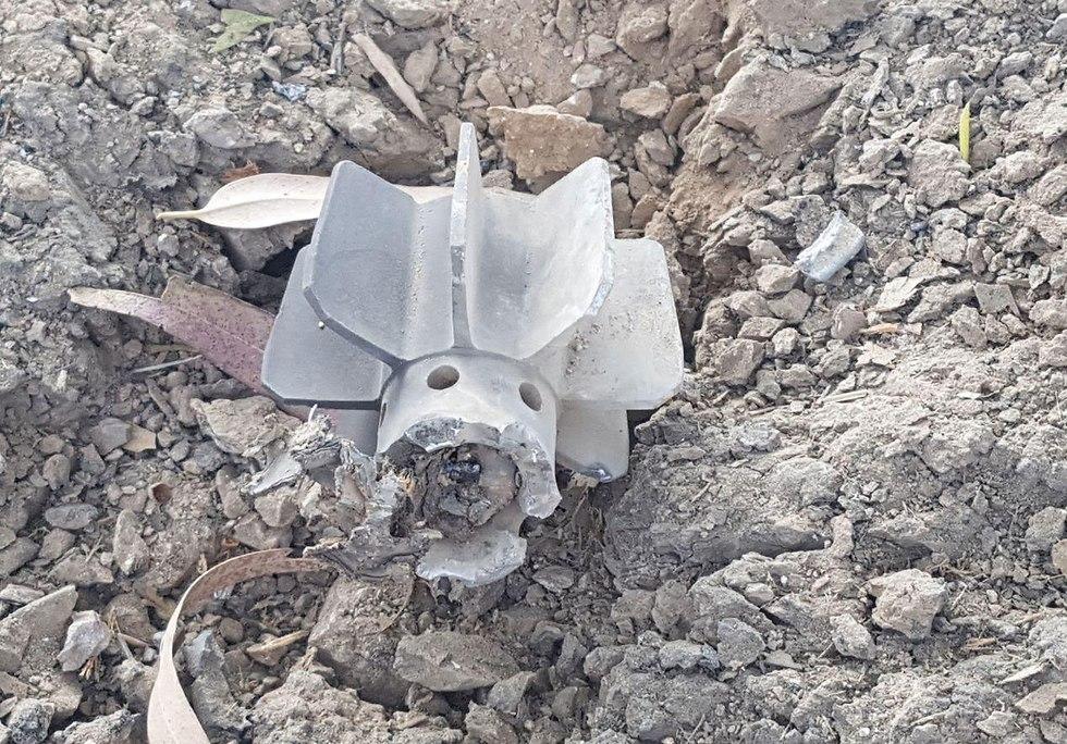 פצצת מרגמה בעוטף עזה (צילום: בראל אפרים )