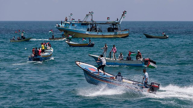A flotilla out of Gaza was stopped by Hamas, and then the Israeli Navy (Photo: AFP)